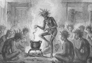 During a Voodoo ritual, participants would dance and chant songs in order to become possessed by a spirit.