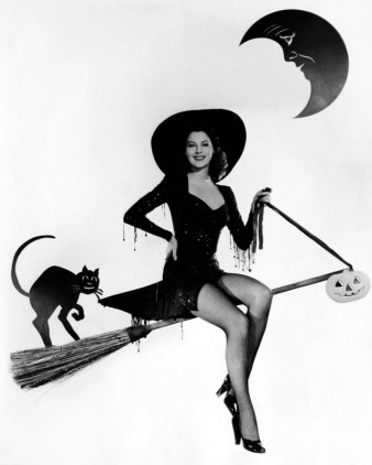 Ava Garder poses as a Halloween pinup.